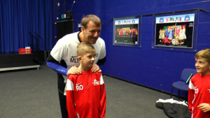 Matt Le Tissier with MLT Natural Coaching youngsters